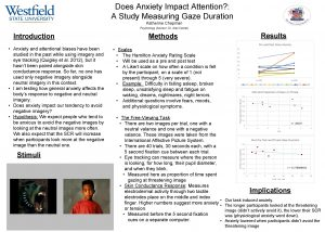 Does Anxiety Impact Attention A Study Measuring Gaze