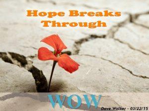WOW Dave Walker 032215 John 21 1 13