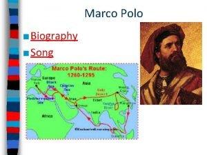 Marco Polo Biography Song Journal 1 Do you