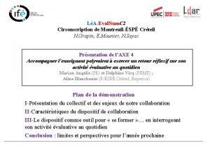 LAEval Num C 2 Circonscription de MontreuilSP Crteil