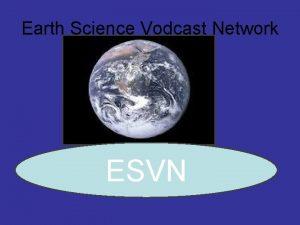 Earth Science Vodcast Network ESVN Topographic Maps Topographic