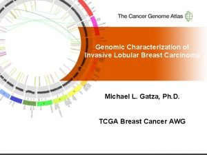 Genomic Characterization of Invasive Lobular Breast Carcinoma Michael