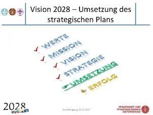 Vision 2028 Umsetzung des strategischen Plans Bundestagung 22