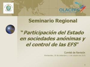 Seminario Regional Participacin del Estado en sociedades annimas