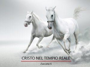 CRISTO NEL TEMPIO REALE Zaccaria 6 CRISTO NEL