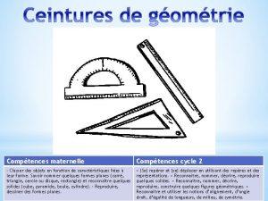 Comptences maternelle Comptences cycle 2 Classer des objets
