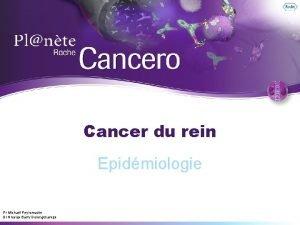 Cancer du rein Epidmiologie Pr Michal Peyromaure Dr