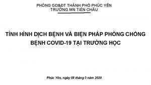 PHNG GDT THNH PH PHC YN TRNG MN