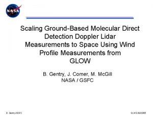 Scaling GroundBased Molecular Direct Detection Doppler Lidar Measurements