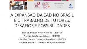 A EXPANSO DA EAD NO BRASIL E O