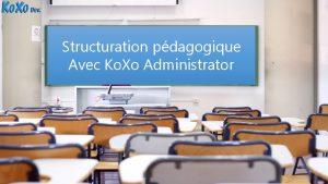 Structuration pdagogique Avec Ko Xo Administrator 2006 2015