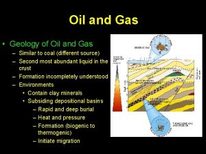 Oil and Gas Geology of Oil and Gas