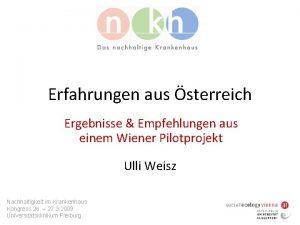 Erfahrungen aus sterreich Ergebnisse Empfehlungen aus einem Wiener