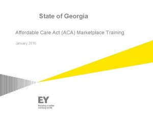 State of Georgia Affordable Care Act ACA Marketplace