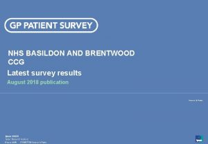 NHS BASILDON AND BRENTWOOD CCG Latest survey results