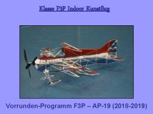 Klasse F 3 P Indoor Kunstflug VorrundenProgramm F