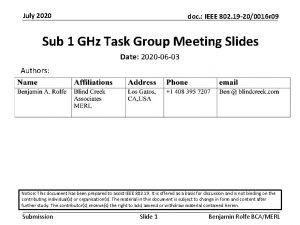 July 2020 doc IEEE 802 19 200016 r