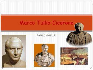 Marco Tullio Cicerone Homo novus 3 gennaio 106