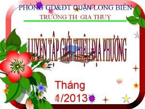 PHNG GDT QUN LONG BIN TRNG TH GIA