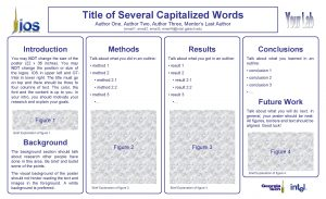 Title of Several Capitalized Words Author One Author
