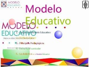 Modelo Educativo 1 Origen del Modelo Educativo 2