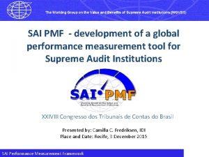 SAI PMF development of a global performance measurement