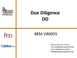 Due Diligence DD BEM VINDOS Mrcio Bambirra Santos