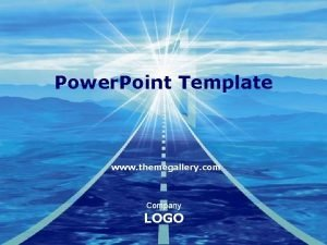 Power Point Template www themegallery com Company LOGO