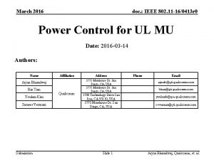 March 2016 doc IEEE 802 11 160413 r