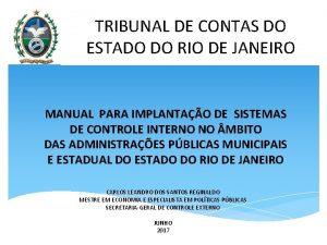 TRIBUNAL DE CONTAS DO ESTADO DO RIO DE