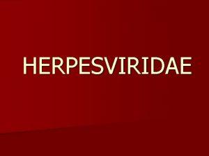 HERPESVIRIDAE KARAKTERISTIK Herpesvirus merupakan virus DNA intranukleus besar