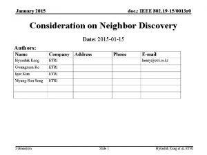 January 2015 doc IEEE 802 19 150013 r