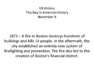US History This Day in American History November