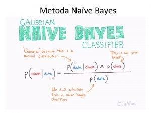 Metoda Nave Bayes Formula Bayes Pentru evenimente independente