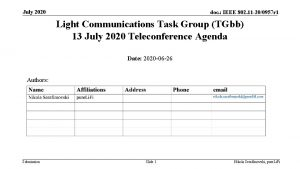 July 2020 doc IEEE 802 11 200957 r