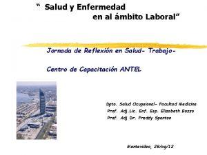 Salud y Enfermedad en al mbito Laboral Jornada