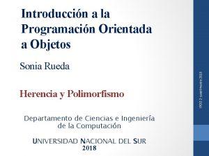 Introduccin a la Programacin Orientada a Objetos Herencia
