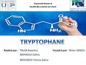 Universit Hassan II Facult des sciences ain chock