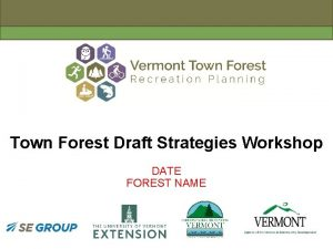Town Forest Draft Strategies Workshop DATE FOREST NAME
