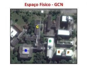 Espao Fsico GCN C D B E F