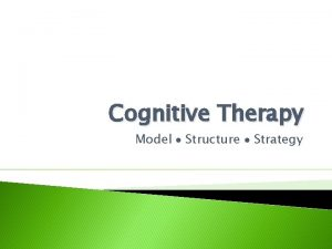 Cognitive Therapy Model Structure Strategy Cognitive Therapy Training