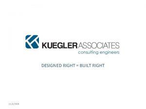KUEGLER ASSOCIATES LLC DESIGNED RIGHT BUILT RIGHT 1142008