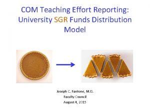 COM Teaching Effort Reporting University SGR Funds Distribution