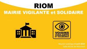 RIOM MAIRIE VIGILANTE et SOLIDAIRE Runion publique 4