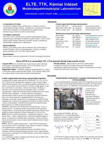 ELTE TTK Kmiai Intzet Molekulaspektroszkpiai Laboratrium vezet Csszr