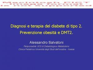 Diagnosi e terapia del diabete di tipo 2