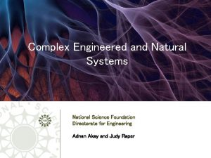 Complex Engineered and Natural Systems National Science Foundation