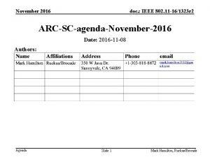 November 2016 doc IEEE 802 11 161323 r