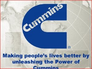 Making peoples lives better by unleashing the Power