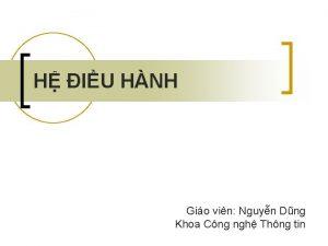 H IU HNH Gio vin Nguyn Dng Khoa
